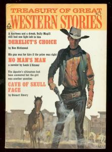 TREASURY OF GREAT WESTERN STORIES #7 1971-LOUIS L'AMOUR FN/VF