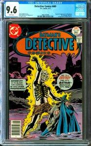 Detective Comics #469 CGC Graded 9.6 1st appearance of Dr. Phosphorus
