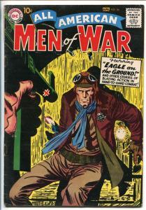 ALL-AMERICAN MEN OF WAR #56-1958-WWII-DC-SILVER AGE-AIR FORCE-FROGMAN-KUBERT-fn-