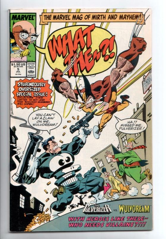 What The--? #5 - Hilary Barta (Marvel, 1989) - VF