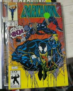 darkhawk # 13 1992 marvel VENOM MANLEY COVER