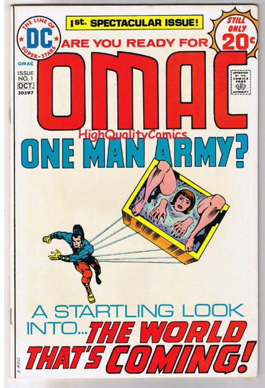 OMAC #1, Jack Kirby, One Man Army Corp, 1974, VF+  (e), World's that is Coming