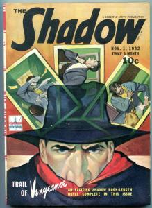 SHADOW PULP NOVEMBER 1 1942-TRAIL OF VENGEANCE GREAT ROZEN COVER VF