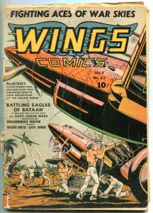 Wings #23 1942- Parachute Patrol- Skull Squad- incomplete