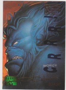 1995 Marvel Masterpieces Emotion Signature Series #7 Beast Dave Devries