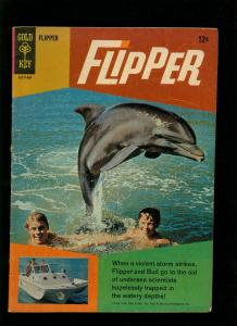 FLIPPER #1 1966-GOLD KEY-DOLPHIN PHOTO COVER-TV SERIES