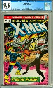 X-Men 97 (CGC 9.6) White pgs; Return of Havok and Polaris; 1st Lilandra