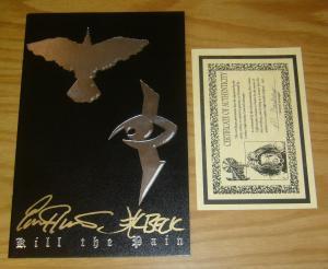 Crow/Razor: Kill the Pain #1 VF/NM leather variant signed by hartsoe w/COA