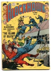 Blackhawk Comics #45 1951- Golden Age- Bill Ward VG-