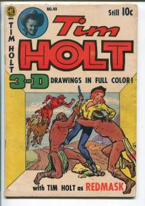 TIM HOLT #40 1954-ME-RED MASK-BLACK PHANTOM-AUTOGRAPHED GHOST RIDER-AYERS-vg-