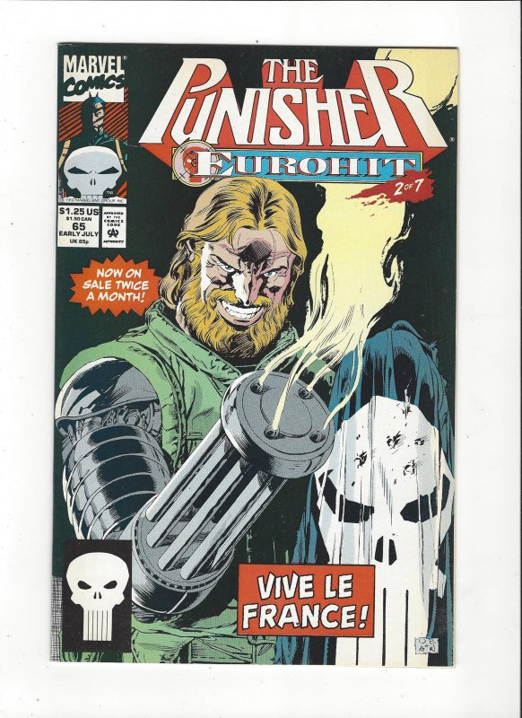 The Punisher #65 (1987)  Eurohit 2 of 7 Marvel Comics NM