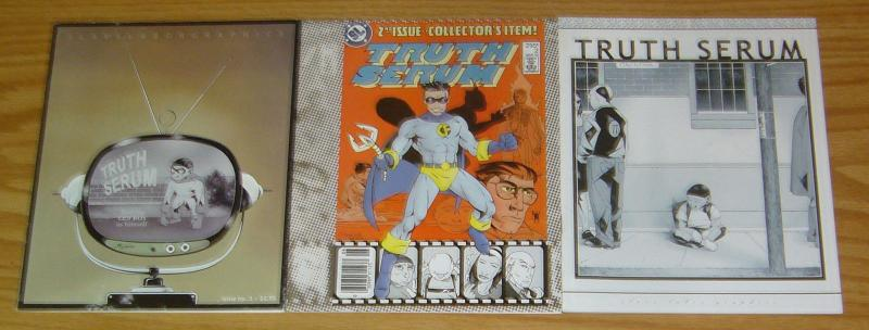 Truth Serum #1-3 VF/NM complete series - slave labor graphics - jonathan adams 2