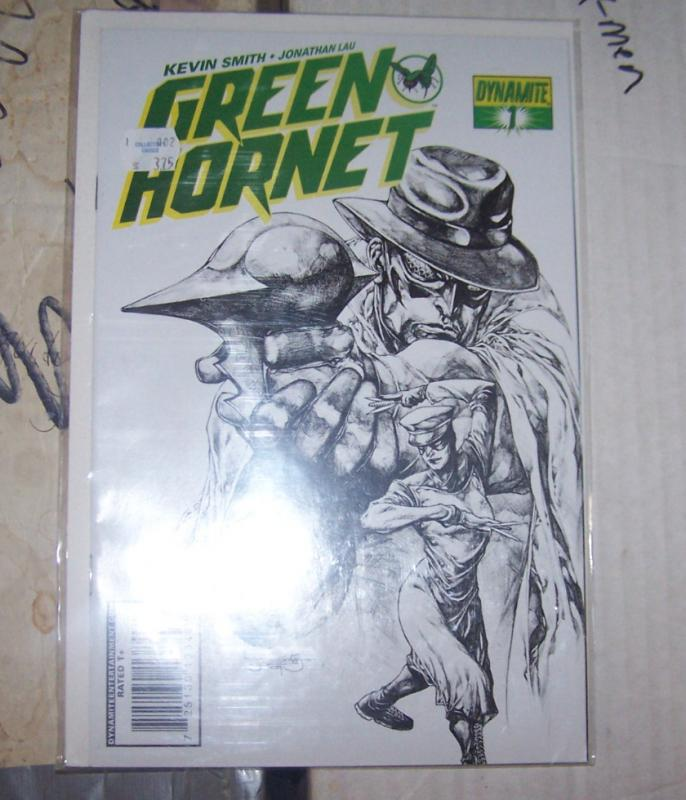 Green Hornet #1 (Mar 2010, Dynamite Entertainment) SKETCH  VARIANT COVER 1:25