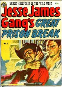 Jesse James #5 1951-Avon-hanging splash panel-prison break-Wally Wood-FM+