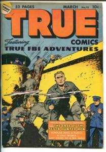 TRUE #70 1948-PRISON BREAK-CIVIL WAR-GARY COOPER-FBI-ABE LINCOLN-vf minus