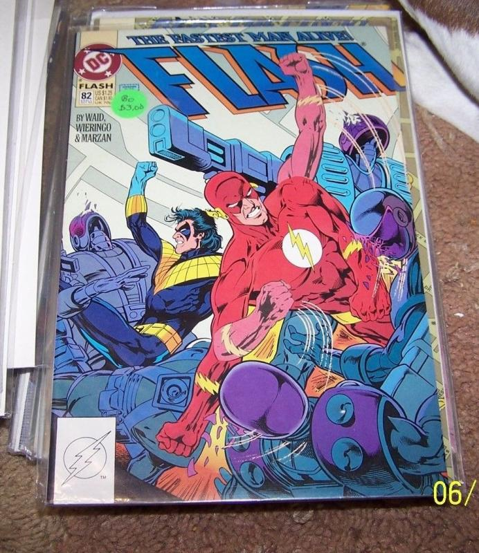 FLASH # 82 (Oct 1993, DC) wally west pre new 52 rebirth nightwing TITANS