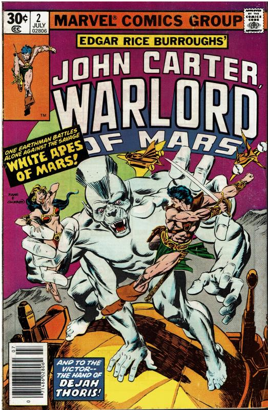 John Carter Warlord of Mars #2, 7.0 or better