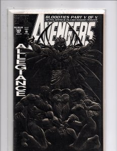 Marvel Comics The Avengers #369 Foil enhanced cover Bloodties Finale