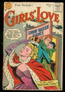 GIRLS LOVE STORIES #34 1955-ROMANCE-FIRST CODE ISSUE-DC FR/G