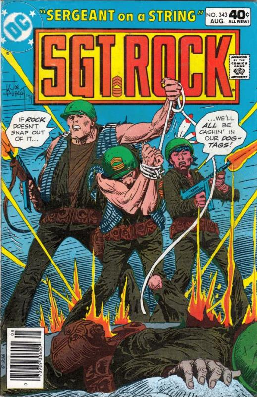 Sgt. Rock #343 (Aug-80) VF/NM High-Grade Sgt. Rock and Easy Company