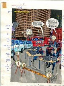 Elementals #9 Page #8 Original Color Guide Ken Feduniewicz