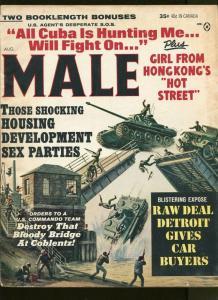 MALE MAGAZINE AUGUST 1964-HONG KONG GIRLS-CHEESECAKE- VG+