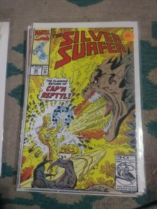 Silver Surfer # 65 1993 Marvel CAP'N REPTYL SPACE PIRATE