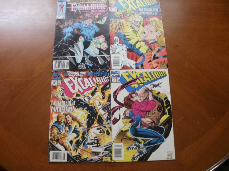 4 Comic: MARVEL COMICS PRESENTS EXCALIBUR #32 (Shadow Cat) + EXCALIBUR #79 80 81