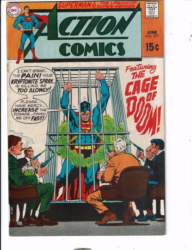 Action Comics # 377 FN/VF DC Comic Book Feat. Superman Superboy Supergirl RG1