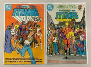 New Teen Titans #2 & #3 A Drug Awareness 8.0 VF (1983)