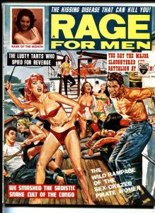 RAGE FOR MEN AUG 1963-Bill Ward-Wild women whipping men on cvr!