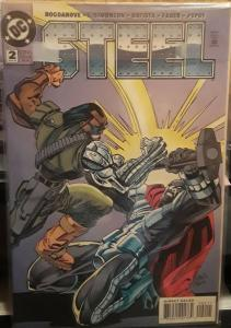 DC COMICS-STEEL-#2-DATED:MARCH 1994-GREATCOMIC BOOK FOR COLLECTOR'S!