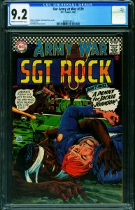 OUR ARMY AT WAR #187 CGC 9.2 1967-DC WAR-SGT. ROCK 2039573010