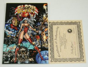 Glory: Who Wrote the Book of Love TPB VF/NM signed by jo duffy w/COA (29 of 750)