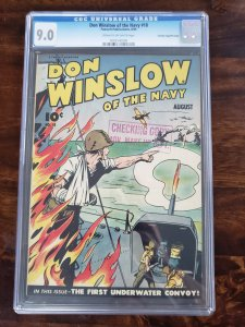 Don Winslow of the Navy 18 CGC 9.0 Crowley Pedigree/File copy Old Pedigree label