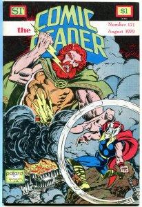 COMIC READER #171, VF+, Thor, Odin, God of Thunder, Fanzine, 1979, more in store