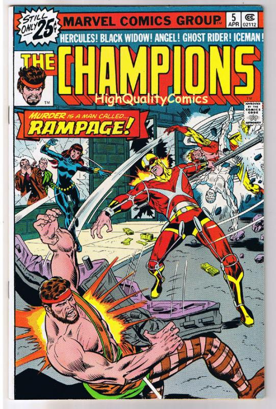 CHAMPIONS #5, VF, Ghost Rider, Black Widow, Angel,1975, more in store