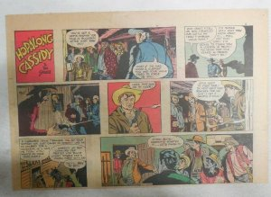 Hopalong Cassidy Sunday Page by Dan Spiegle from 9/27/1953 Size 7.5 x 10 inches