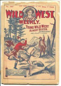 Wild West Weekly #1057 1/19/1923-Almost Beaten-pulp fiction-FR