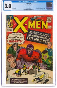 X-Men #4 (Marvel, 1964) CGC Graded 3.0 The second appearance of Magneto, and ...