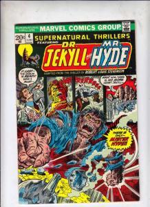 Supernatural Thrillers #4 (Jun-73) NM- High-Grade Dr. Jekyll, Mr. Hyde