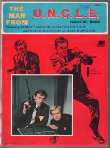 Man From U.N.C.L.E. Coloring Book #1855-4-Robert Vauvhn-David McCallum-FN-