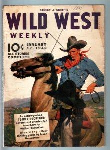 WILD WEST WEEKLY 1/17/1942-WESTERN PULP-STREET & SMITH FN