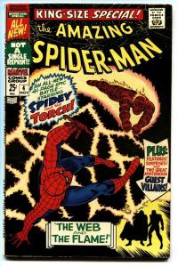 AMAZING SPIDER-MAN ANNUAL #4 comic book-Marvel 1967-HUMAN TORCH