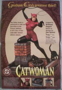 CATWOMAN STATUE Promo poster, 11x17,  1997, Unused, more Promos in store