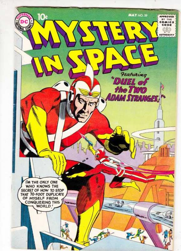 Mystery in Space #59 (May-60) VF+ High-Grade Adam Strange