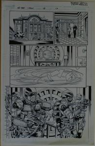 ROBERT ATKINS / CLAYTON BROWN original art, GI JOE #15 pg 17, 2008,11x17, IDW