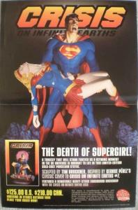 CRISIS ON INFINITE EARTH STATUE Promo poster, Unused, more in our store