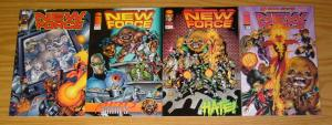 New Force #1-4 VF/NM complete series - rob liefeld - todd nauck - newmen set lot