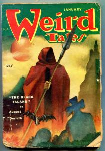 Weird Tales Pulp January 1952- Black Island- Horror cover P/F